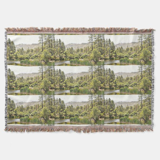 Crown King Pond Throw Blanket
