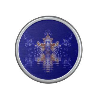Crown Lake Blue Crystal Fractal Bluetooth Speaker