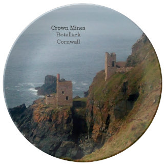 Crown Mines Botallack Cornwall England Plate