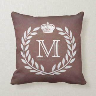 Crown Monogram Cushion