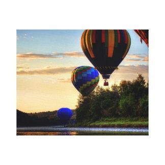 Crown of Maine Hot Air Balloons. Canvas Print