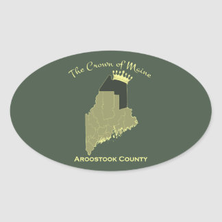 Crown of Maine Oval Sticker