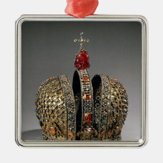 Crown of the Empress Silver-Colored Square Decoration