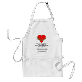 Crown of Thorns Around a Heart Aprons