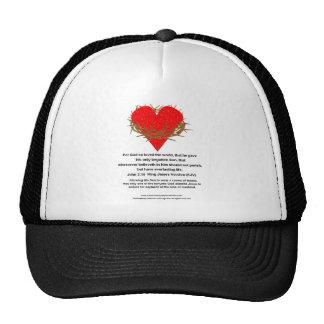 Crown of Thorns Around a Heart Trucker Hats