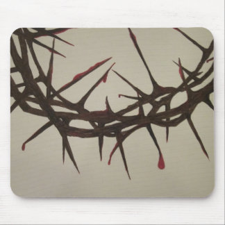 Crown of thorns mouse pad
