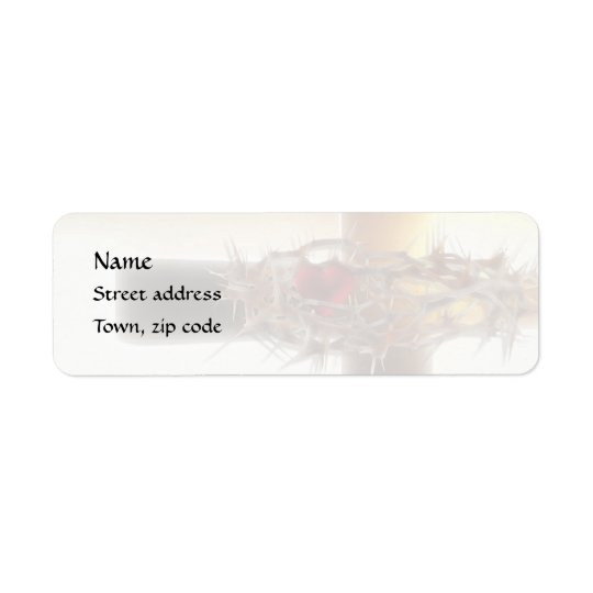 Crown-of-Thorns Return Address Label