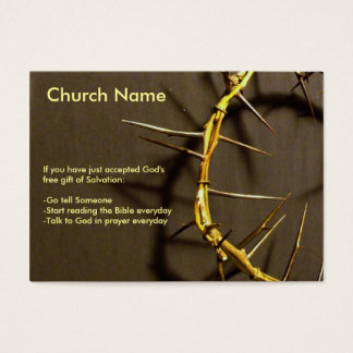 Crown of Thorns Tract Business Card