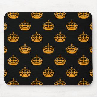 Crown Orange Mouse Pad