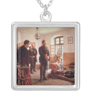 Crown Prince Frederick by the corpse Silver Plated Necklace
