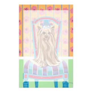 Crown Princess Yorkie Stationery