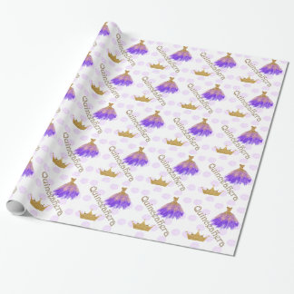 Crown Quinceanera Wrapping Paper
