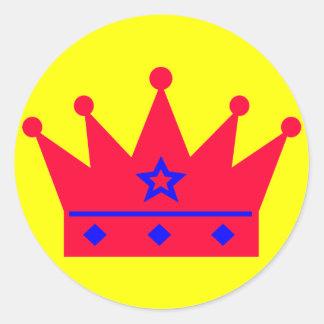 Crown Round Sticker