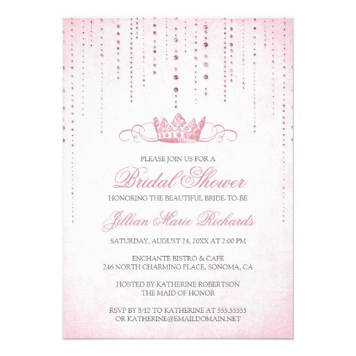 Crown & Sparkles Bridal Shower Invitation