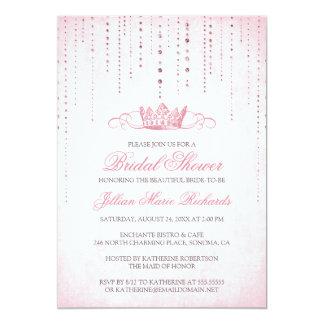 "Crown & Sparkles Bridal Shower Invitation 5"" X 7"" Invitation Card"