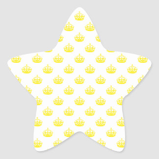 Crown Yellow Stickers