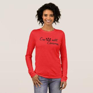 Crowndit chrismas red long sleeve long sleeve T-Shirt
