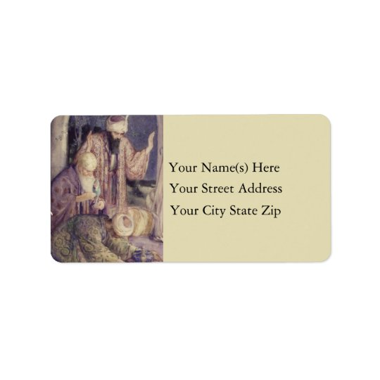 Crowned By Three Kings Christmas Address Label