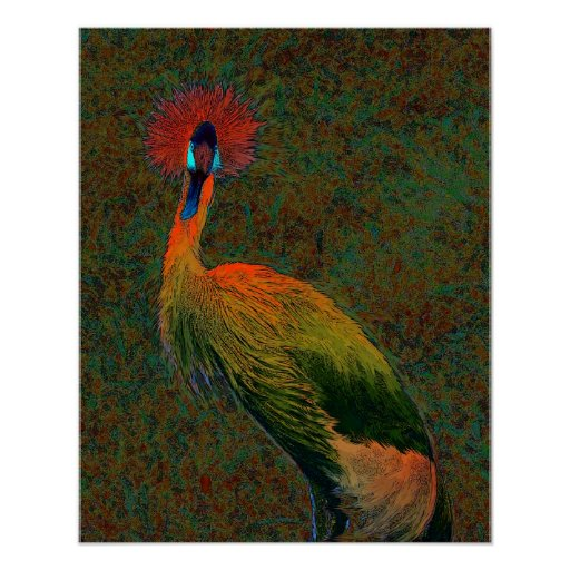 crowned crane poster