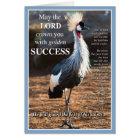 Crowned Crane Success Card