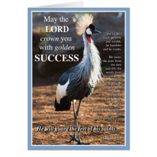 Crowned Crane Success Card