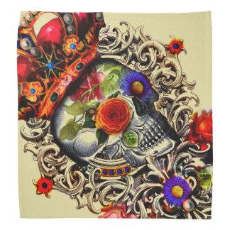Crowned Floral Skull Bandana