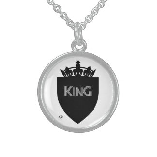 Crowned King Collection Sterling Silver Necklace
