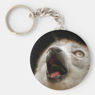 Crowned Lemur Singing Key Ring