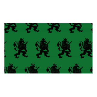 Crowned Lion Black Green Pack Of Standard Business Cards