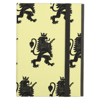 Crowned Lion Black Light Yellow Case For iPad Air