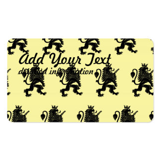 Crowned Lion Black Light Yellow Pack Of Standard Business Cards