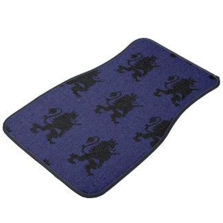 Crowned Lion Black Purple Floor Mat