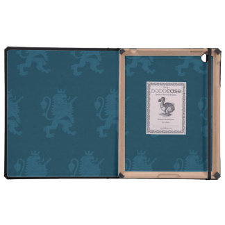 Crowned Lion Blue iPad Cover