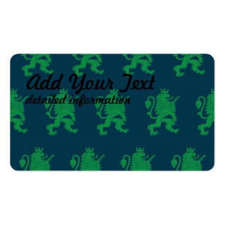 Crowned Lion Green Blue Pack Of Standard Business Cards