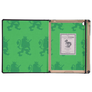 Crowned Lion Greens iPad Folio Case