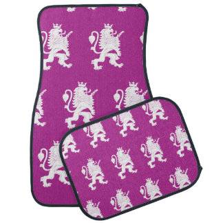 Crowned Lion Magenta white Floor Mat