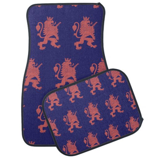 Crowned Lion Pink Purple Car Mat