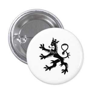 Crowned Lion Rampant Button