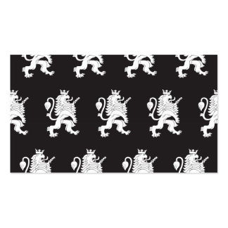 Crowned Lion White Black Pack Of Standard Business Cards