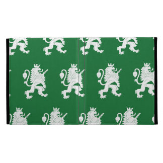 Crowned Lion White Green iPad Folio Case