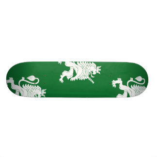 Crowned Lion White Green Skate Board Deck