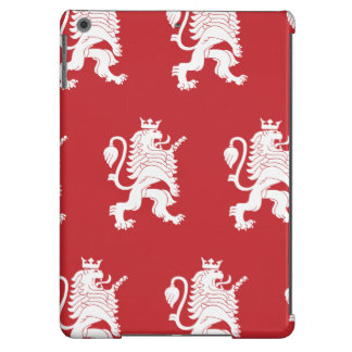 Crowned Lion White Red iPad Air Cover