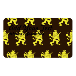 Crowned Lion Yellow Browns Business Cards