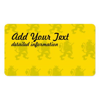 Crowned Lion yellow Pack Of Standard Business Cards