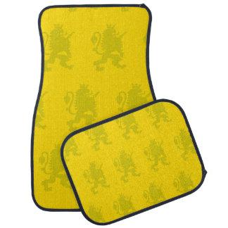 Crowned Lion yellow Car Mat