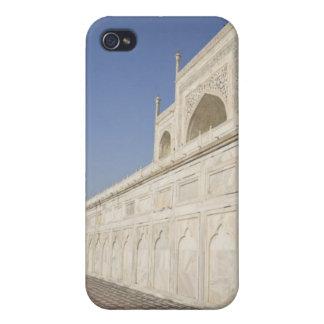 Crowned minarets at Taj Mahal, view from Chhatri iPhone 4 Cover