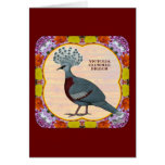 Crowned Pigeon Floral Cards