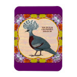 Crowned Pigeon Floral Magnets