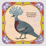 Crowned Pigeon Floral Stickers