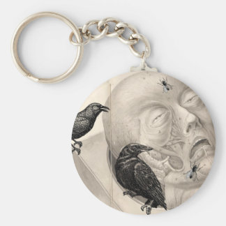 Crows and corpse key ring